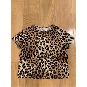 Zara cheetah pattern t-shirt